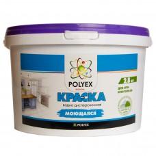 Краска POLYEX моющаяся Эконом 2.8 кг